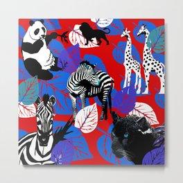 ZEBRA PANDA GIRAFFE CHEETAH LION Metal Print