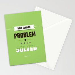 Well defined problem Stationery Cards