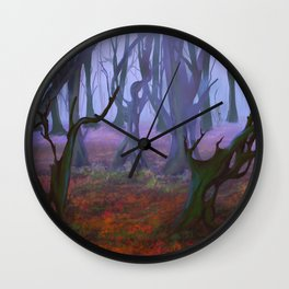 Petrified Willows Wall Clock