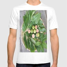 FRUITS & LEAVES Mens Fitted Tee White MEDIUM
