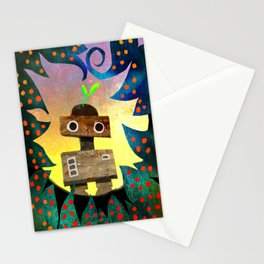 Robot in the Forest Stationery Cards