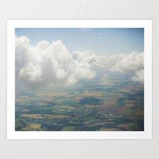 Czech Aerial Landscape Art Print