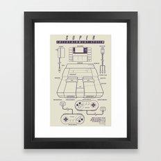 Super Entertainment System (light) Framed Art Print