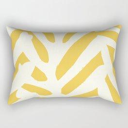 Coral in yellow Rectangular Pillow