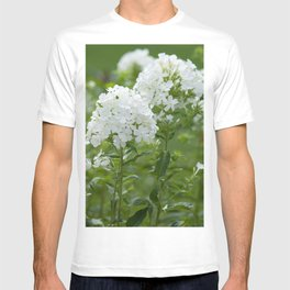 white flowers T-shirt