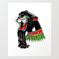 rasta Art Prints featuring RASTA by SpaceCrafts