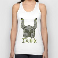 skyrim Tank Tops featuring Tank by Mallow