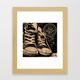 Ramones Shoes Framed Art Print
