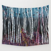 moss Wall Tapestries featuring :: Pink Moss :: by :: GaleStorm Artworks ::