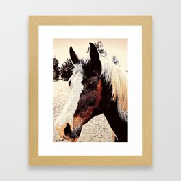 Portrait Of A Gentle Friend Framed Art Print
