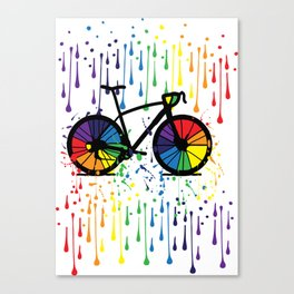 Rainbow raindrops Canvas Print