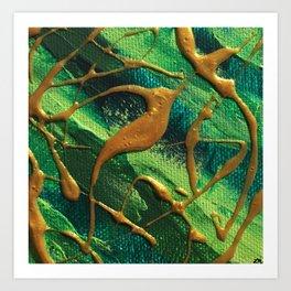 Green & Gold Art Print