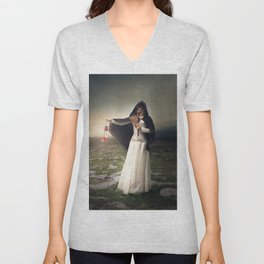 For those with eyes - Fine art magical portrait Unisex V-Neck