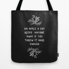An Apple A Day BW Tote Bag
