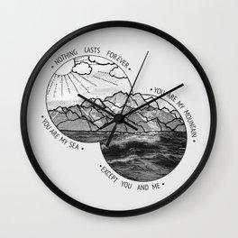 mountains-biffy clyro Wall Clock