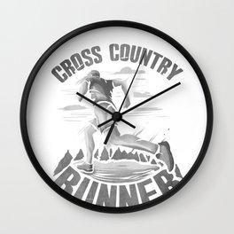 Running Addict Cross Country Runner Wall Clock