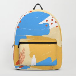 Yellow Abstraction Backpack