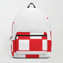 Red chess board Backpack