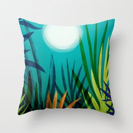 Midnight In The Jungle / Tropical Night Series #4 Throw Pillow