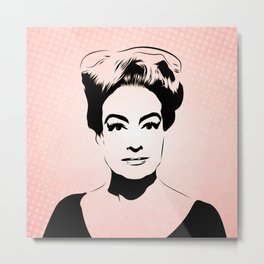 Joan Crawford - Hollywood Royalty - Pop Art Metal Print