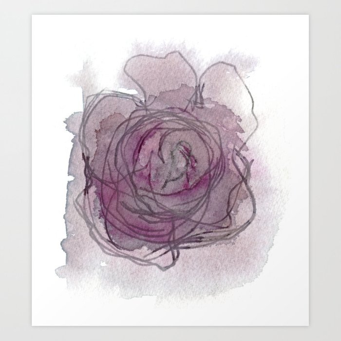 Rose - Abstract Watercolour Art Print