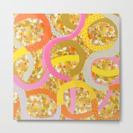 abstract worm dots Metal Print