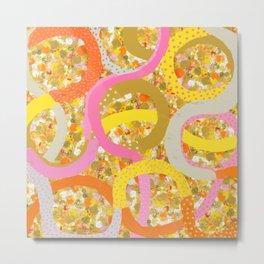 abstract worm dots Metal Print