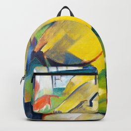 Alpine Scene by Franz Marc - Vintage Painting Backpack