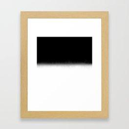 Black and White Split Fade Inverse Framed Art Print