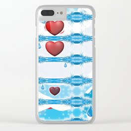 In Loving Memory. Clear iPhone Case