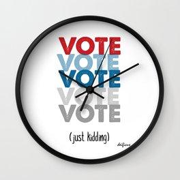 VOTE NOW TRUMP CLINTON 2016 Wall Clock