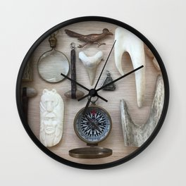 A Compass and Antlers and Artifacts, OH MY! Wall Clock