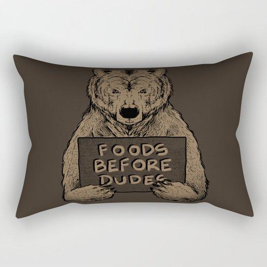 Foods Before Dudes Rectangular Pillow