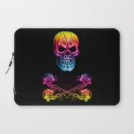 Skull And Crossbones Rainbow Laptop Sleeve