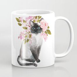 cat with flower crown Coffee Mug