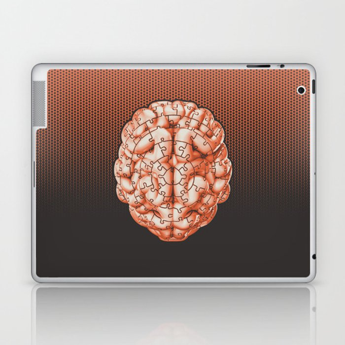 Puzzle brain GINGER / Your brain on puzzles Laptop & iPad Skin