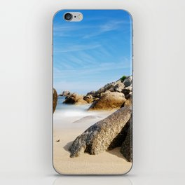 Lighthouse on Brittany Beach iPhone Skin