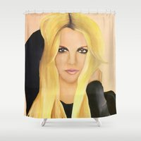 britney spears Shower Curtains featuring BRITNEY SPEARS  .- BRITNEY JEAN  by Alfonso Aranda