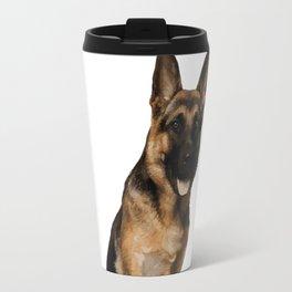 German Shepherd Sit Travel Mug