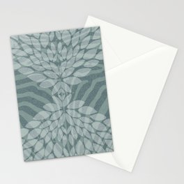 Zebra pattern with leaves Stationery Cards