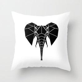 Black Elephant Throw Pillow