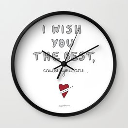 I wish you the best Wall Clock
