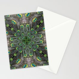 Peacock Pattern - Animal Print - Interesting Pattern Stationery Cards