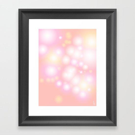 Soft Pearls Framed Art Print