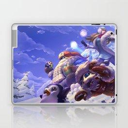 Snow Day Gnar Syndra Bard Splash Art League of Legends Artwork Wallpaper lol Laptop & iPad Skin