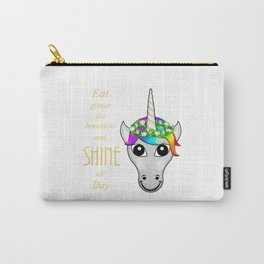 Eat Glitter for breakfast and SHINE all Day Carry-All Pouch