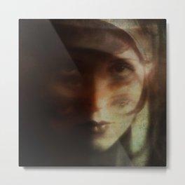 Clara, in Darkness Metal Print