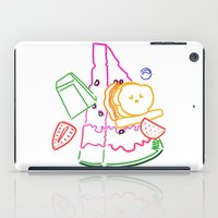 fruit iPad Cases featuring Fruit by pandaliondeath