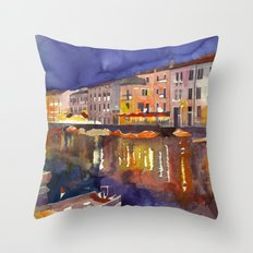 Night in Venice part 1 Throw Pillow