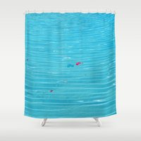 pool Shower Curtains featuring Pool by AlexinaRose